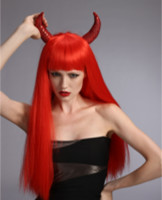 Halloween wig, party wig,Festival wig with horn YS-6011