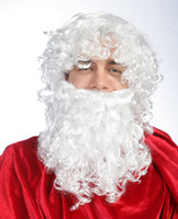 White father's wig,Christmas wig,Santa's wig 0004