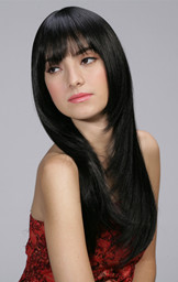 Lady's Synthetic hair styles long straight wig 2576L