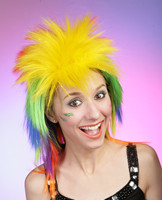 Multi color party wigs, cheap synthetic hair wig F876