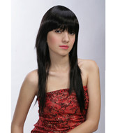 Long black best synthetic hair wigs suppliers  IMG007