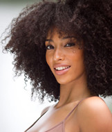 Kinky afro curly hair bulk,synthetic hair pieces 23