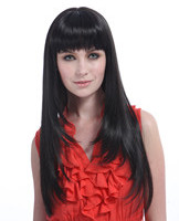 24 Long straight lady's hair style wigs YS-9080