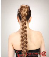 Fake braids hairpieces, claw clip ponytail hairYS-8158