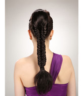 Yaki ponytail briads hairpieces with claw clip YS-8182
