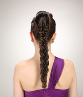 Fistail braids ponytail hair pieces,hair accessory YS-8183