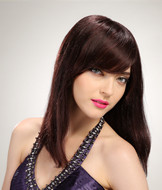 Long natural burgundy hair color styles wigs for girl 6057