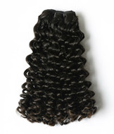 Natural black afro curly hair weave